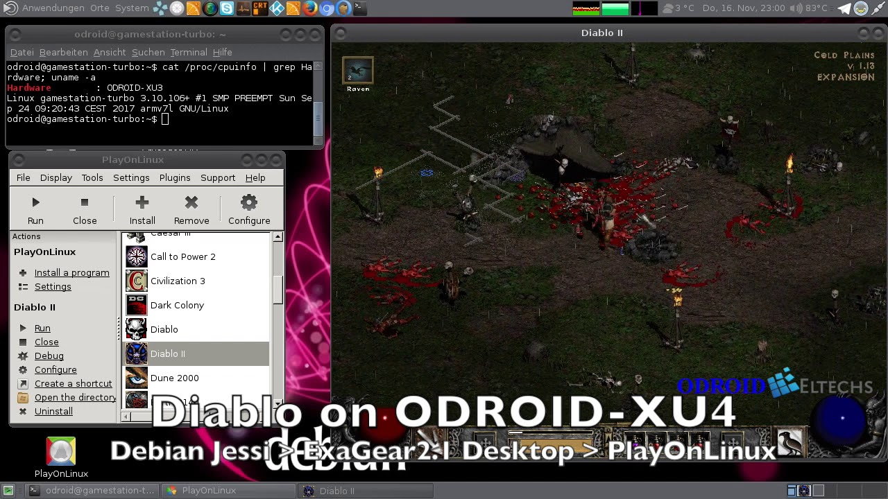 Exagear Desktop for ODROID boards (Powerful x86 emulation