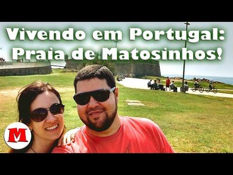 Vivendo em Portugal: Praia de Matosinhos! | Canal Maximizar