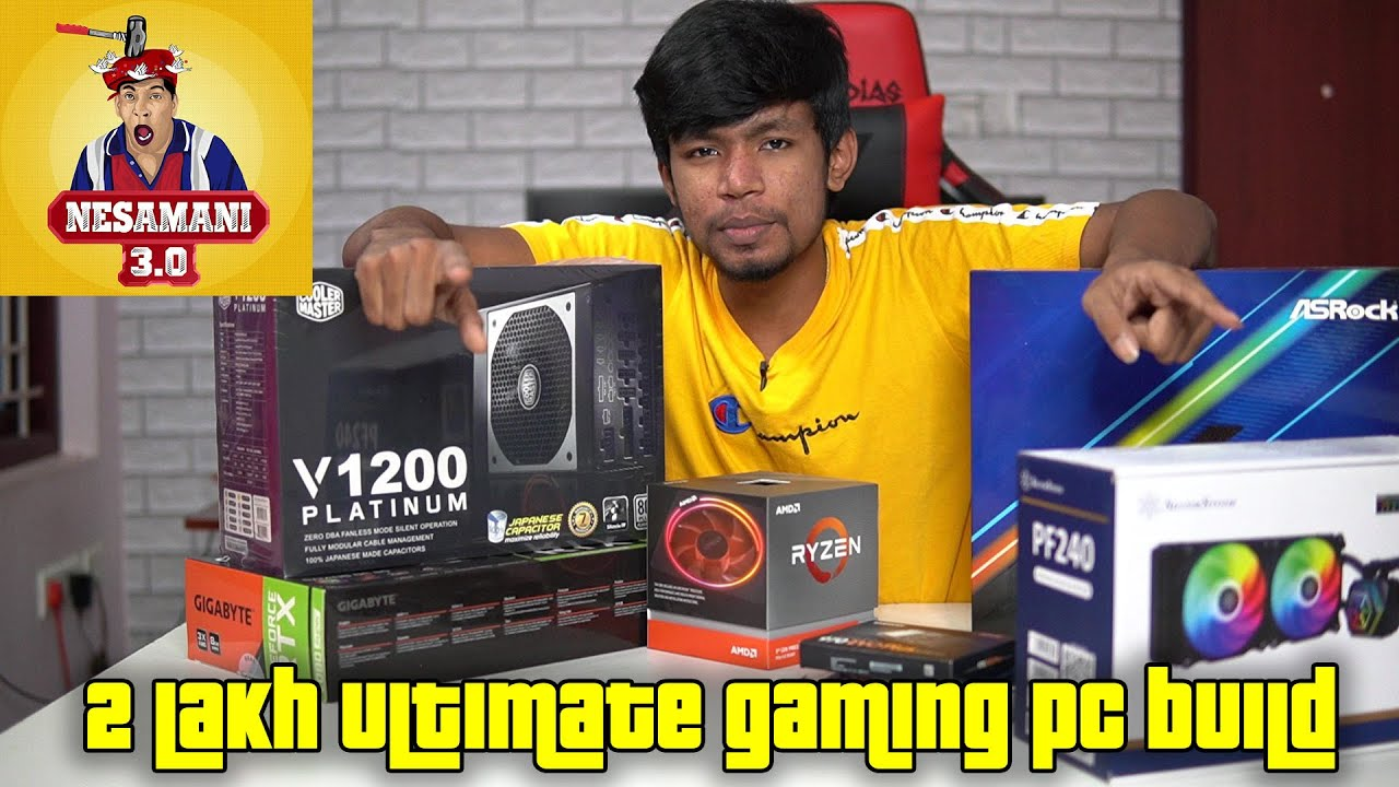 2 lakh Ultimate Gaming Pc Build For Nesamani Gaming in Tamil