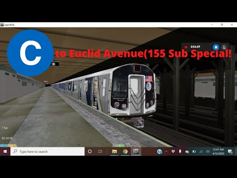 OpenBVE Special: The R160C (C) To Euclid Av (155 Sub Special)
