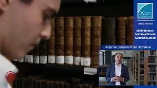 Kütüphane ve Dokümantasyon Müdürü Mehmet Yılmaz Kütüphaneyi Anlatıyor