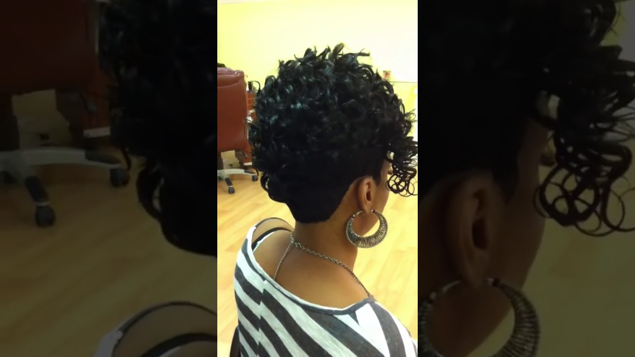 27 Pieces Hair Styles: Mohawk Quick Weave (stylist Marvin Hayes