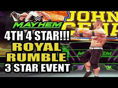 WWE Mayhem - 4th 4 Star Superstar!!! Royal Rumble 3 Star Event w/o Healing, Upcoming Event Schedule