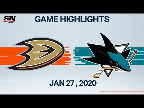 NHL Highlights | Ducks vs. Sharks – Jan. 27, 2020