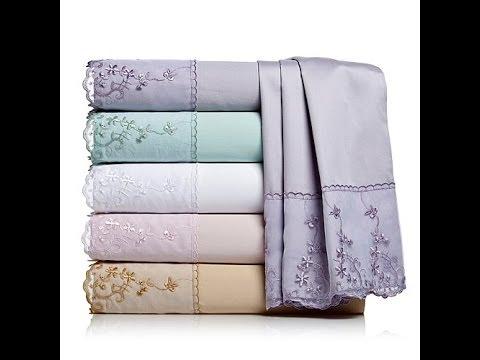 HGM Organza Lace Cotton 4pc Sheet Set  Queen