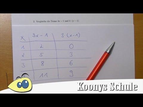 Terme vergleichen - Zahlen einsetzen und schauen was rauskommt | 2/8 ...
