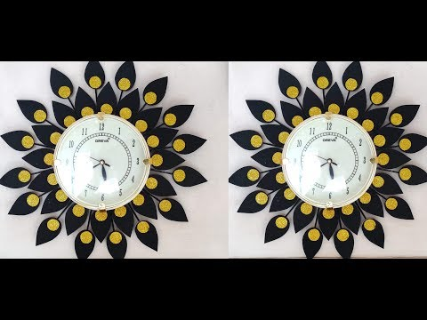 DIY Floral Designer Wall Clock/Diy wall clock/Wall Decor & Art/Room Decor