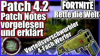 Fortnite Save the world patch Notes 4 2 read and explain podcast style talk video mp4