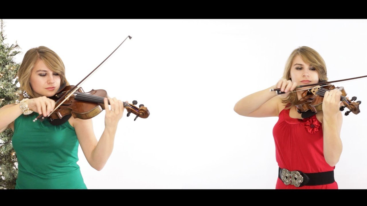 Christmas Violin.Silent Night Violin Duet Taylor Davis Merry Christmas