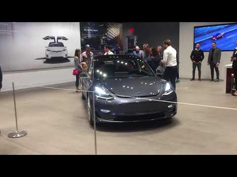 Model 3 in Tesla showroom in Southlake, TX
