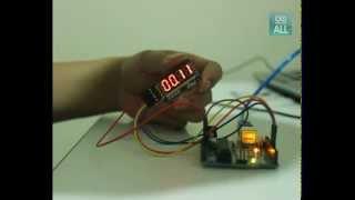การใช้งาน โมดูล 7 segment 4 หลัก Four digital tube module LED display