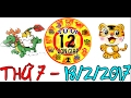 Tử Vi 2017 | Tử Vi 12 Con Giáp 2017: Thứ 7 - 18/2/2017 | Xem Tử Vi Hàng Ngày