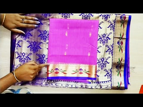 Easy patchwork blouse back neck design cutting and stitching /latest nauwari saree blouse design
