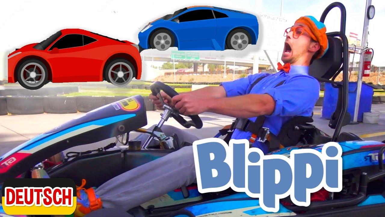 Blippi Deutsch - Rennauto | Sing mit Blippi | Abenteuer und Videos für Kinder