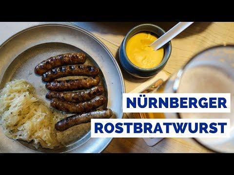 Nürnberger Rostbratwurst - Eating German Sausages in Nuremberg, Germany