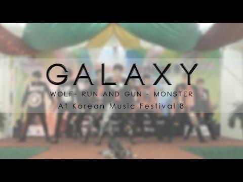 160828-exo-(엑소)---wolf-(늑대와미녀),-run-and-gun,-monster-cover-dance-by-galaxy-at-kmf8-surabaya