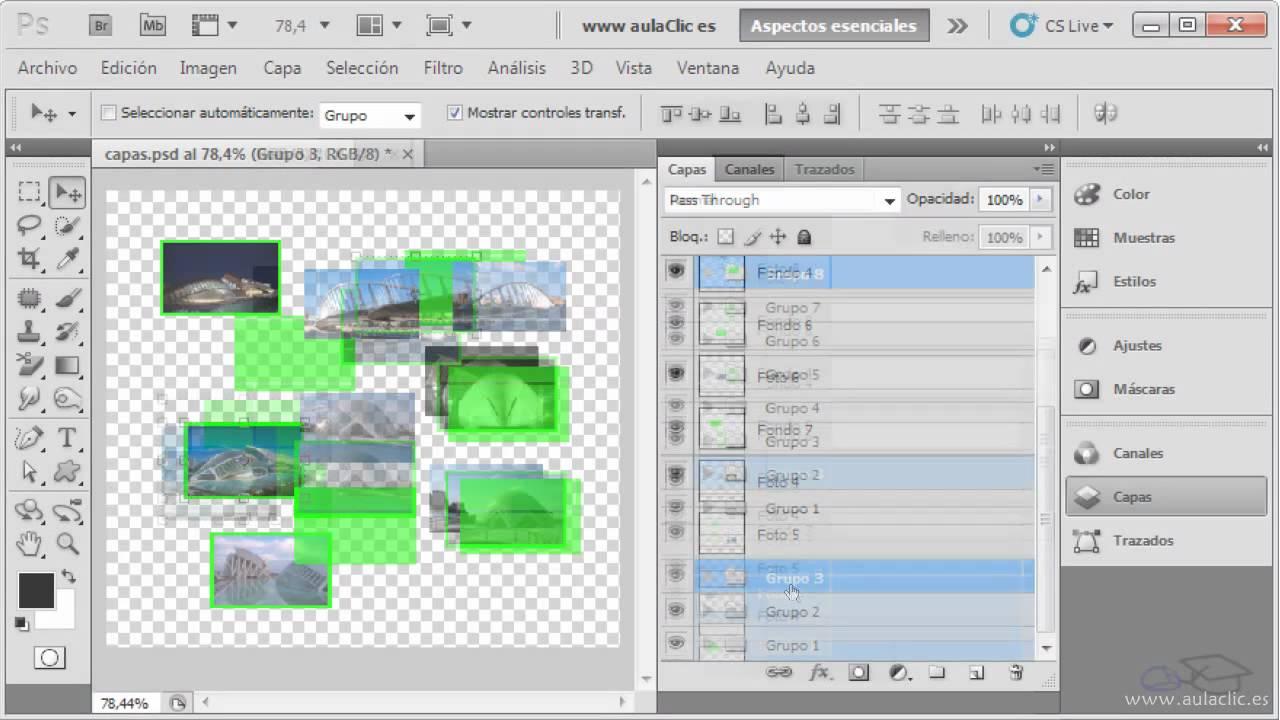 Curso De Photoshop Cs5 Ejercicio 5 Trabajar Con Las Capas Youtube
