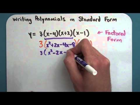 Writing Polynomials In Standard Form 6 2 5 Youtube