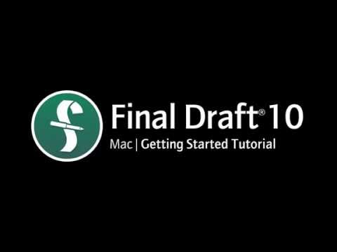 Final Draft 10 for Mac | Getting Started