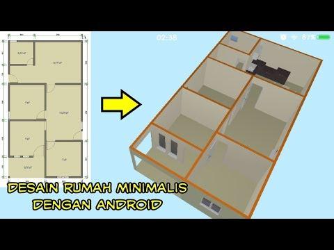 Desain Rumah minimalis 2 kamar tidur (3 dimensi) part #1