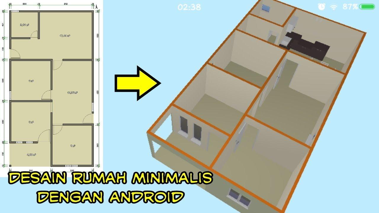 Desain Rumah Minimalis 2 Kamar Tidur 5D Part 1 Floor Plan
