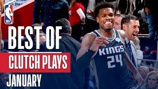 NBA's Best Clutch Plays | January 2018-19 NBA Season