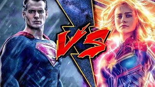 Superman vs captain marvel in Hindi (SUPER BATTLE)