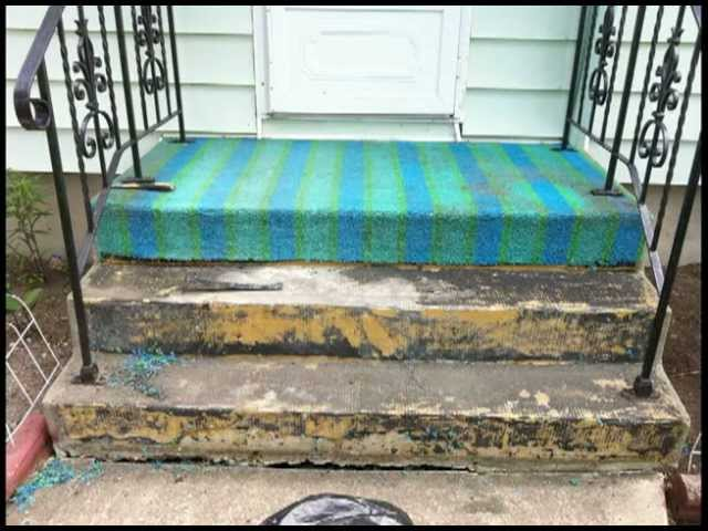 Carpet Turf Vs Stoneeffects Coating, How To Glue Outdoor Carpet Concrete Steps