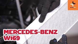Como substituir a filtro do habitáculo no MERCEDES-BENZ A W169 TUTORIAL   AUTODOC