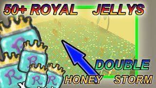 OPENING 50+ ROYAL JELLYS + DOUBLE HONEY STORM!!!!! - Roblox Bee swarm simulator