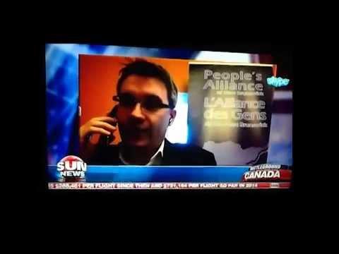 Kris Austin speaking on Sun News: Battleground.