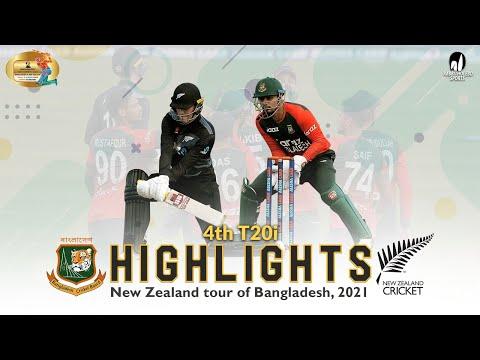 Bangladesh vs New Zealand Highlights || 4th T20i || New Zealand Tour of Bangladesh 2021
