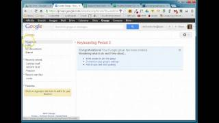 Creating a Google Group