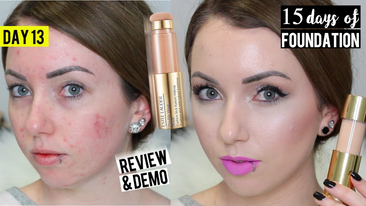 New Estee Lauder Double Wear Radiant Cushion Stick Foundation Demo Review 15 Days Of Foundation