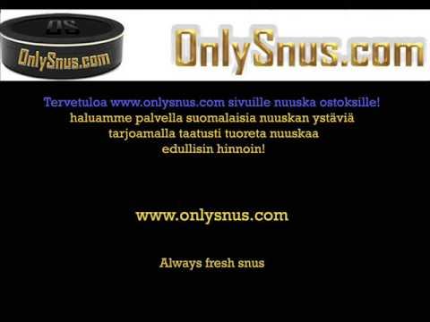 Tervetuloa Onlysnus.com sivuille nuuska ostoksille
