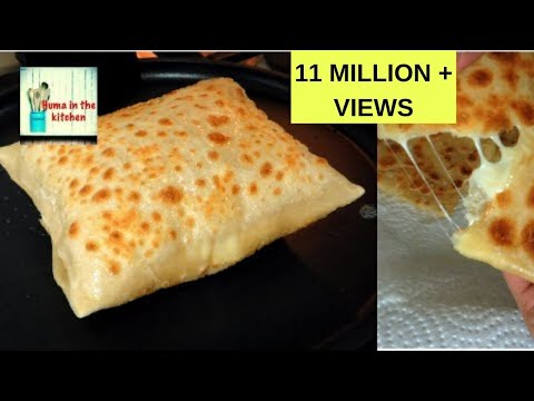 Cheese Paratha Recipe - Cheese Stuffed Paratha - Vegetarian Recipe by (HUMA IN THE KITCHEN)