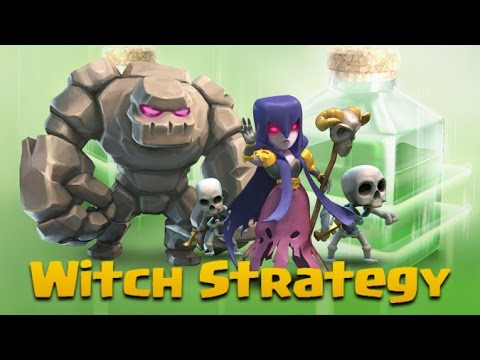 TH9 Witch Strategy | Insane Attack: 4 Golems + 6 Witches + 4 Jumps | Clash Of Clans