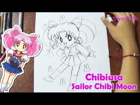 How to draw Sailor Chibi Moon, Chibiusa / Vẽ Thủy thủ mặt trăng con