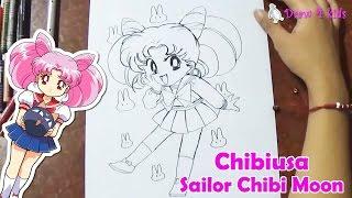 How to draw Sailor Chibi Moon, Chibiusa | D4K