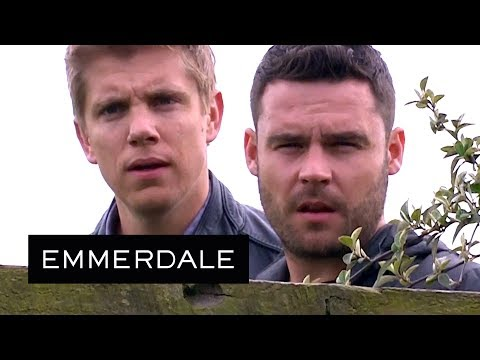 Emmerdale - Robert and Aaron Find Ross's Cannabis Farm!
