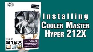 cooler master hyper 212x installing installation guide