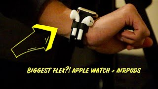 AIRPOD HOLDER FOR YOUR APPLE WATCH BIGGEST FLEX?!