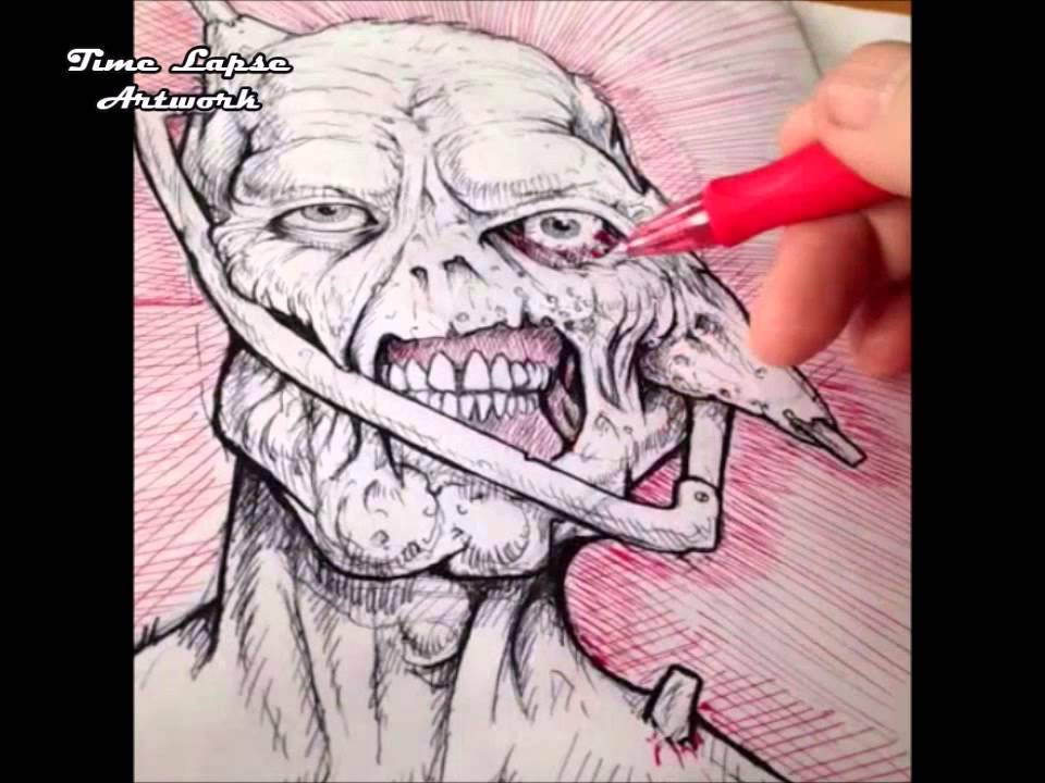Halloween Drawing - Car Accident Corpse - YouTube