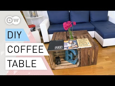 DIY coffee table | How to make a table with wooden crates | Tutorial quick and easy