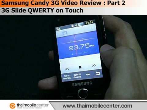 Samsung Candy 3G B5310 Video Review : Part 2