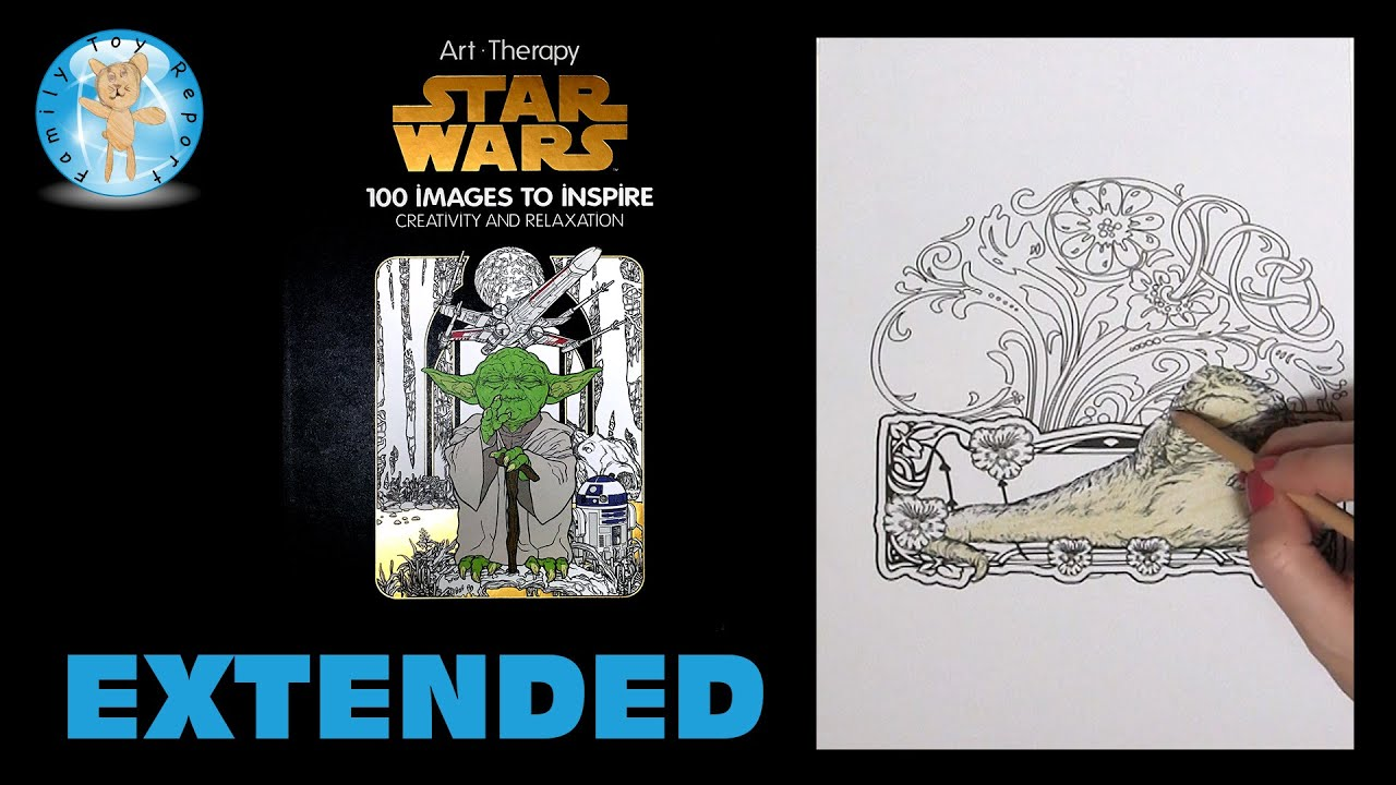 Art Therapy Star Wars Adult Coloring Book Jabba The Hut Prismacolor Extended