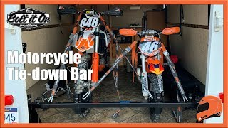 motorcycle tie down bar install review bolt it on