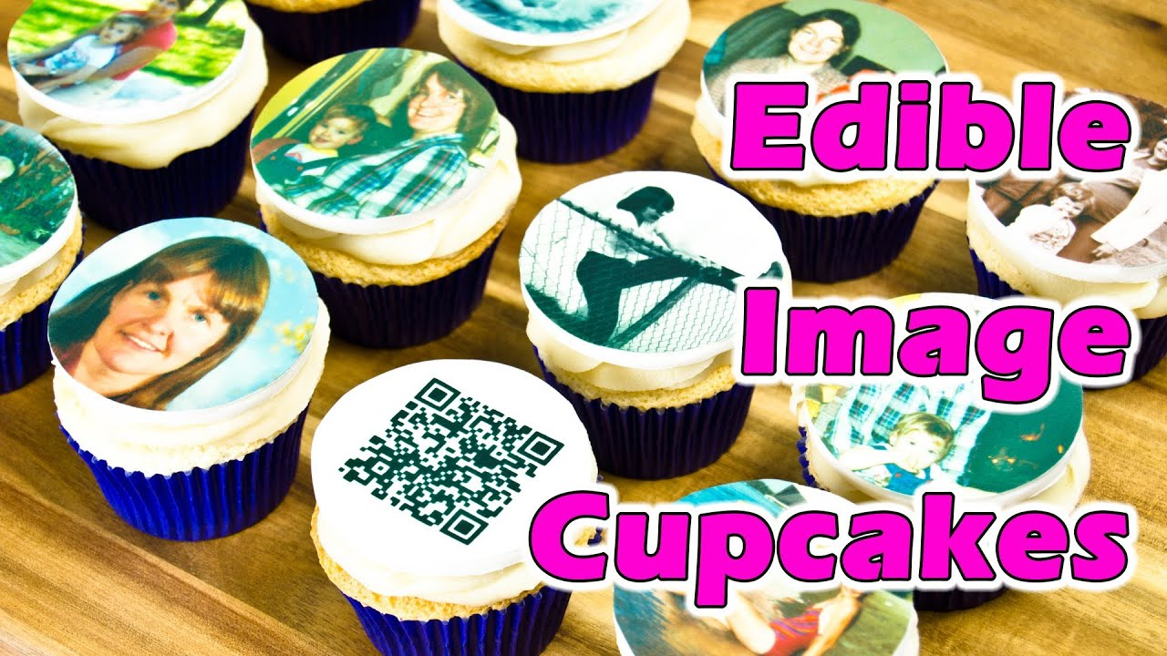 Edible image cupcake toppers for my mom 39 s birthday by for How to make edible cake decorations at home