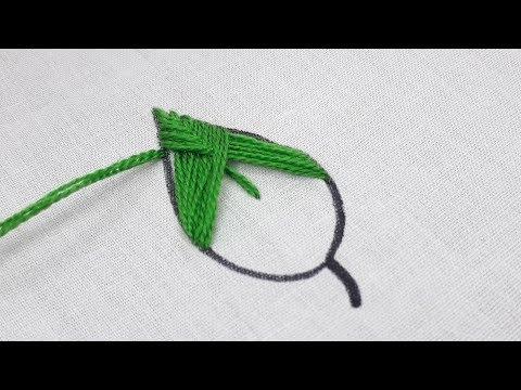Cluster Stitch leaf design | Hand embroidery leaf stitch design tutorial thumbnail