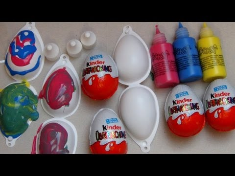 Kinder Surprise Egg Easter Painting Set
